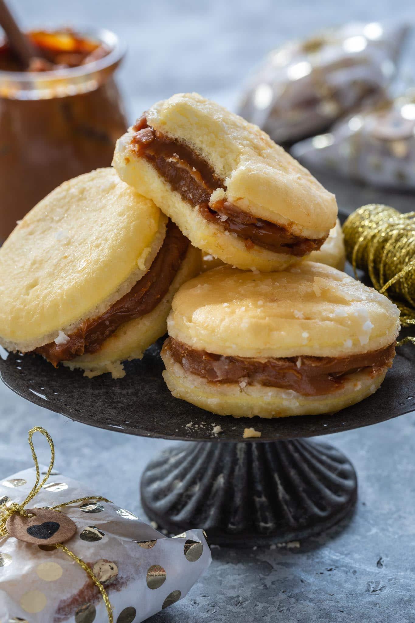Bem Casado Cookies on a platter