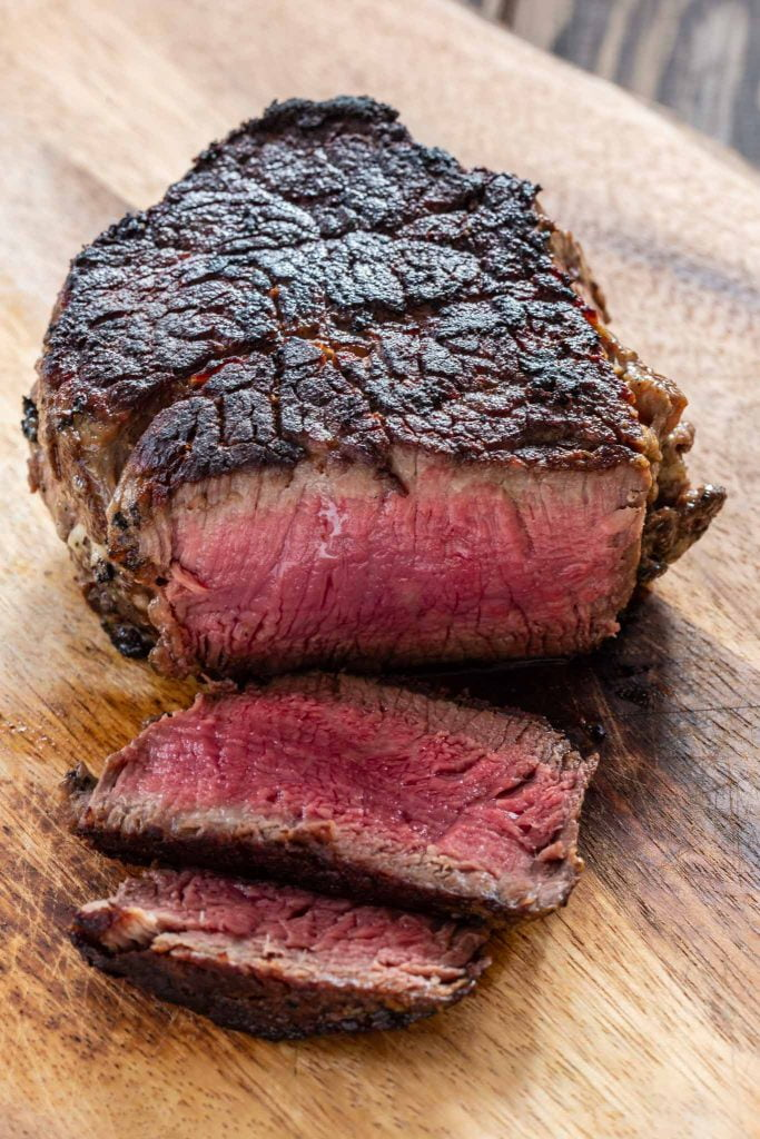 Perfectly cooked filet mignon!