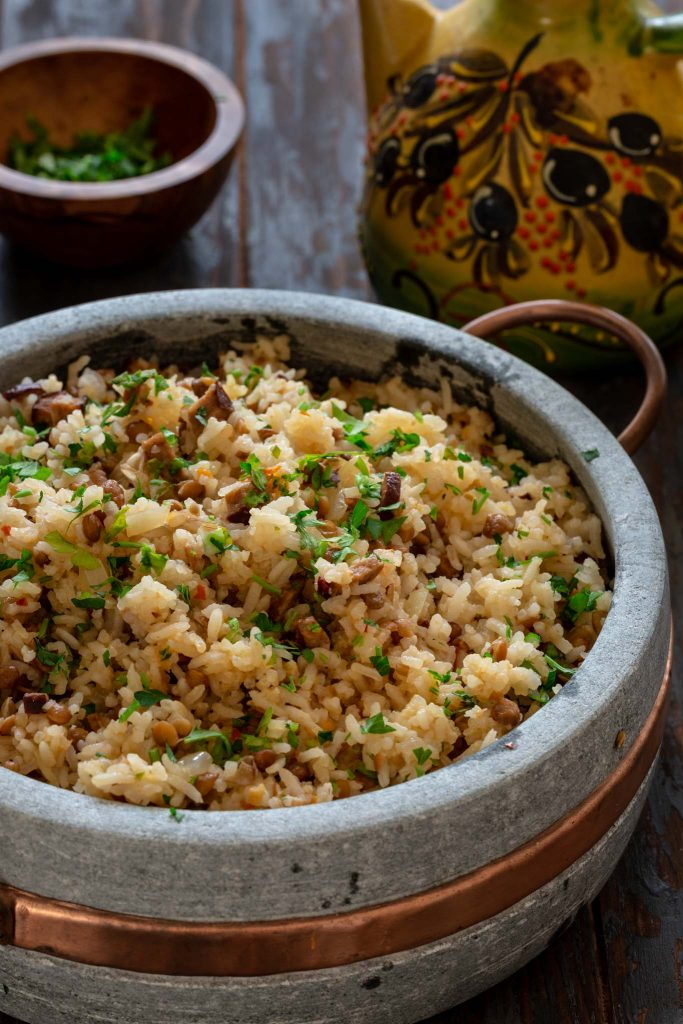 Dirty Rice with Sausage and Lentils made in one pot!
