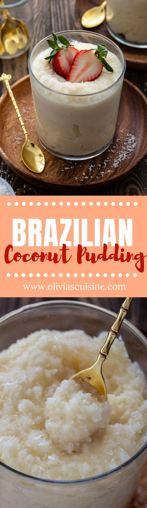 Brazilian Coconut Pudding (Cocada Cremosa) | www.oliviascuisine.com | If you love coconut, this Brazilian Coconut Pudding will knock your socks off! Made with only 5 ingredients and ready in less than 10 minutes, this is guaranteed to satisfy your sweet tooth. (Recipe and food photography by @oliviascuisine). #Brazil #brazilian #coconut #pudding