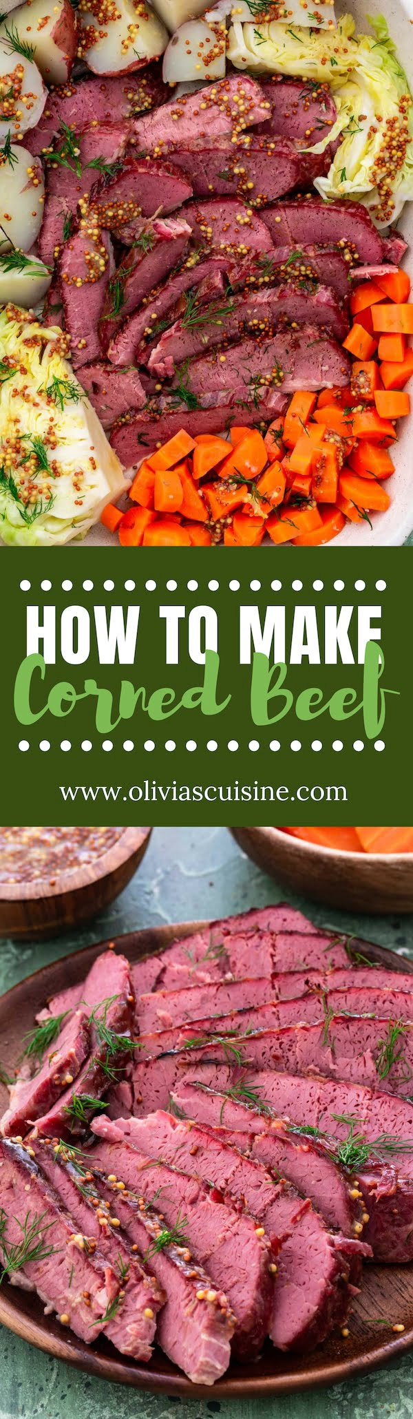 How to Make Corned Beef from Scratch | www.oliviascuisine.com | Curing your own corned beef is very easy and will give you better flavors than store bought. Just make sure to allow the beef to brine for at least 7 days for best results! (Recipe and food photography by @oliviascuisine) #cornedbeef #irish #saintpatricksday