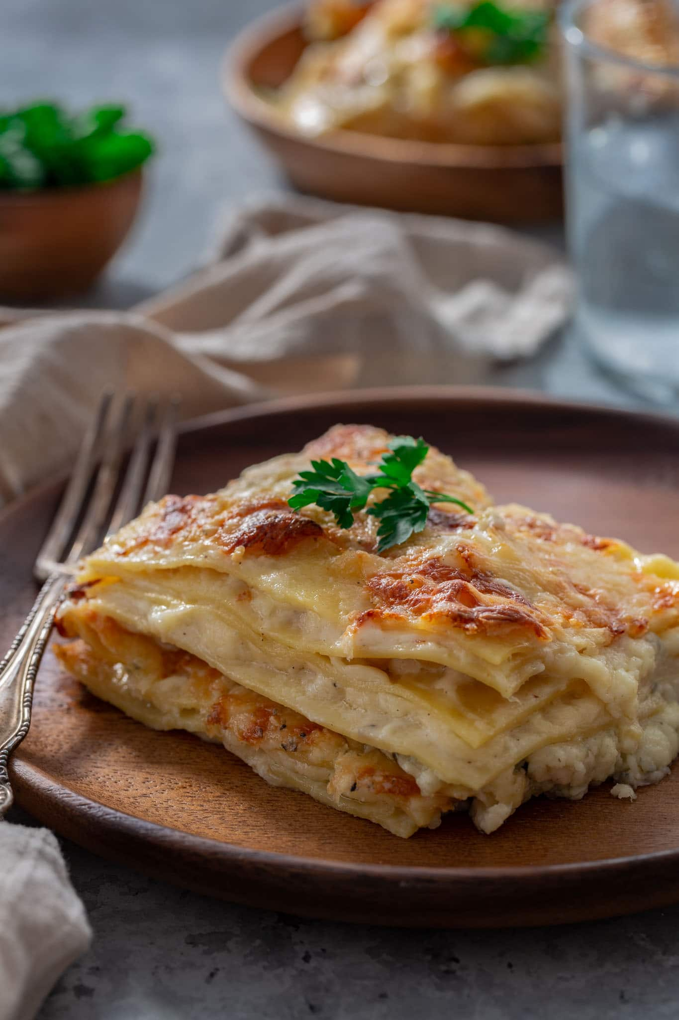 A slice of cheesy lasagna!
