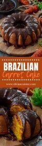 A collage of Brazilian carrot cake photos.