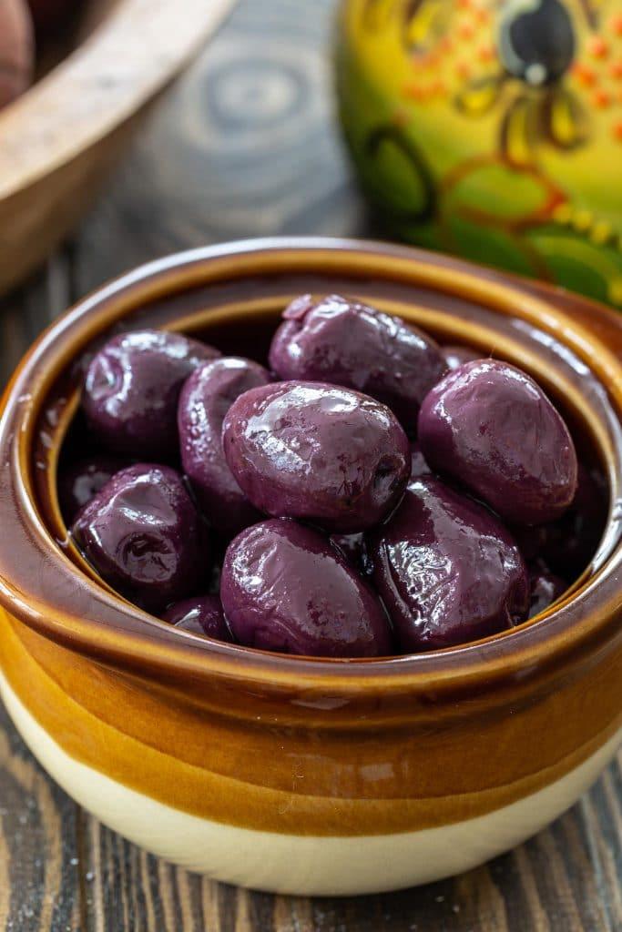 Kalamata olives to make bacalao.