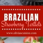 A collage of Brazilian strawberry tartlets photos.