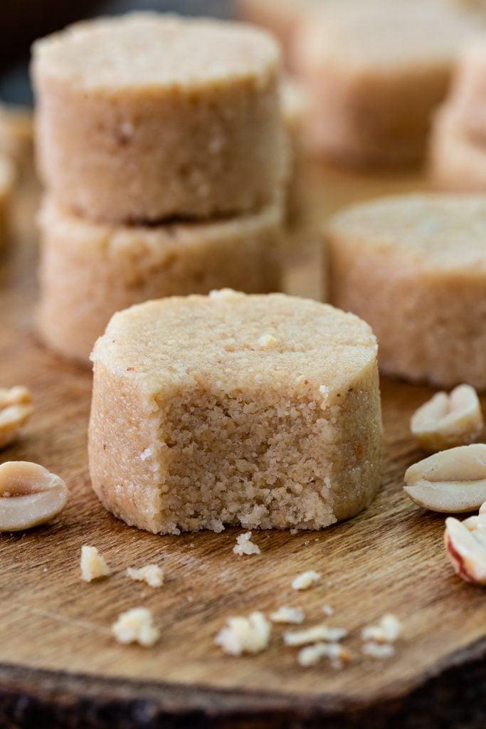 Paçoca - a Brazilian candy made of peanuts and sugar.