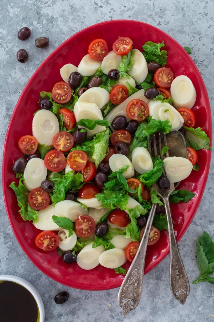 hearts of palm salad with balsamic vinaigrette