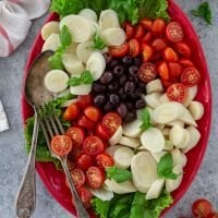 Hearts of Palm Salad with Cherry Tomatoes and Olives