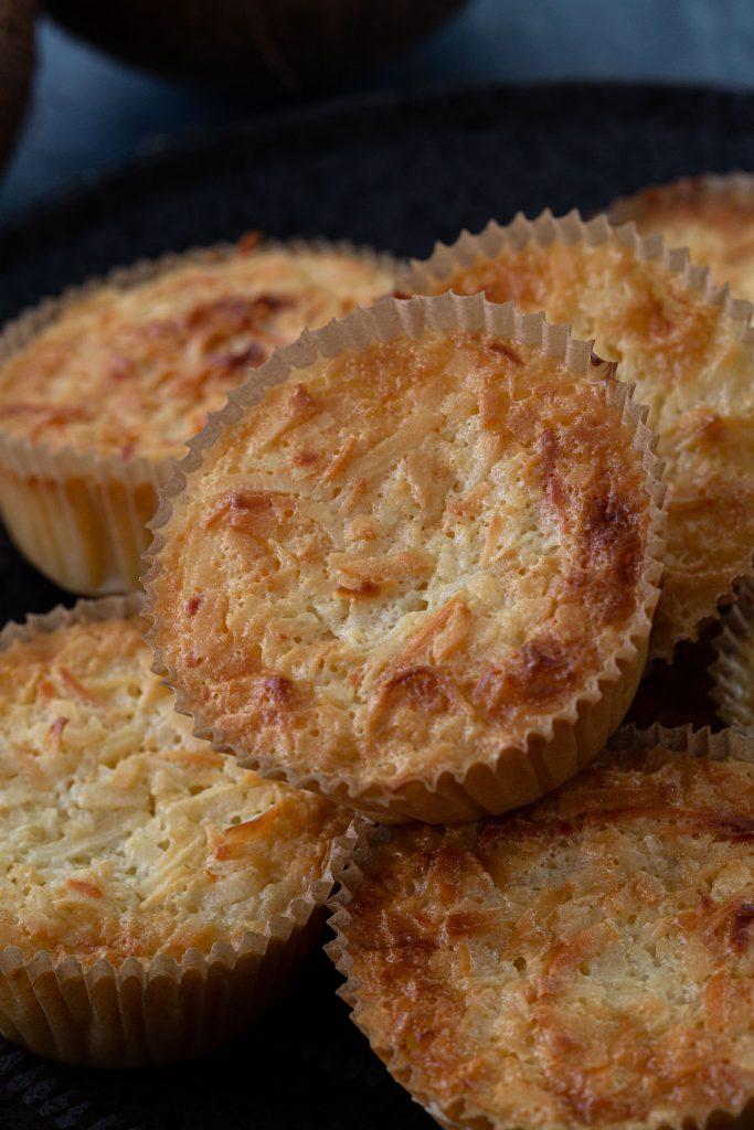 Freshly baked queijadinhas