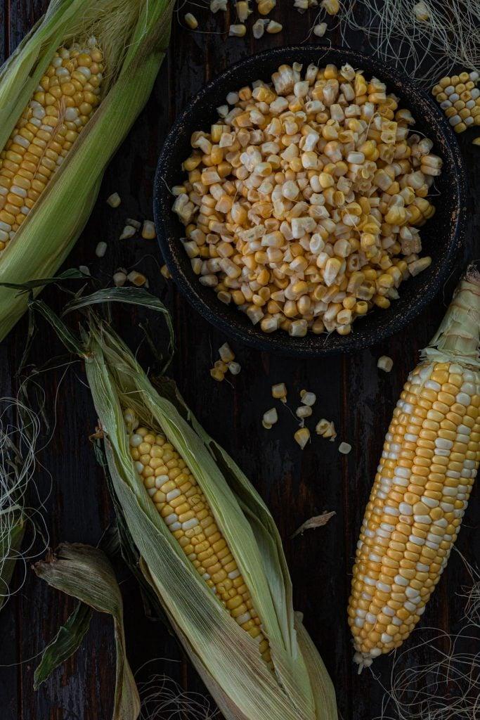Fresh corn in the summer