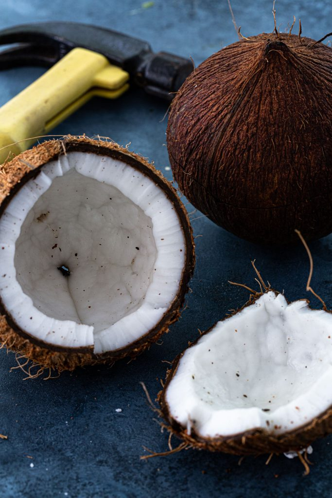 How to open fresh coconut using a hammer