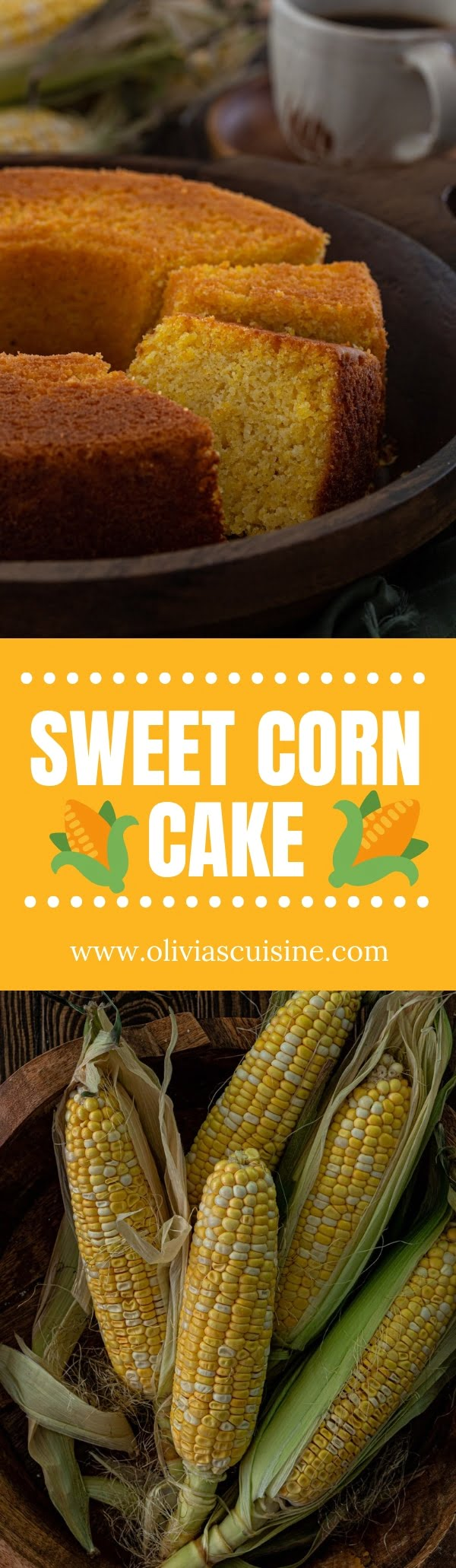 Brazilian Sweet Corn Cake with Coconut | www.oliviascuisine.com | Out of all the things to make with fresh corn, Sweet Corn Cake might be my favorite! It is a breeze to make and goes great with a cup of coffee. (Recipe and food photography by @oliviascuisine.) #corncake #cornbread #brazilianfood #easycake