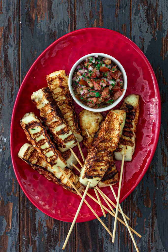 Grilled cheese skewers