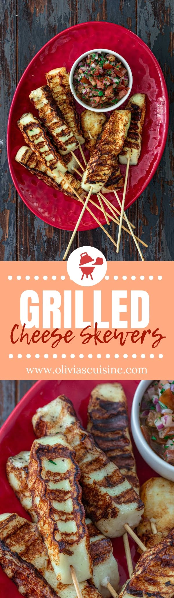 Grilled Cheese Skewers | www.oliviascuisine.com | If you haven't tried throwing some cheese on the grill yet, these Grilled Cheese Skewers are going to blow your mind! Chewy, salty and totally drool worthy. You simply gotta make it happen! (Recipe and food photography by @oliviascuisine.) #cheese #skewers #kabobs #halloumi #quesofresco #queijocoalho