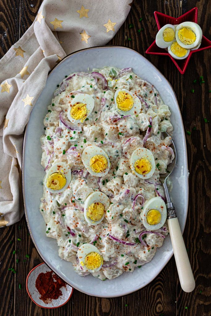 All-American potato salad with eggs