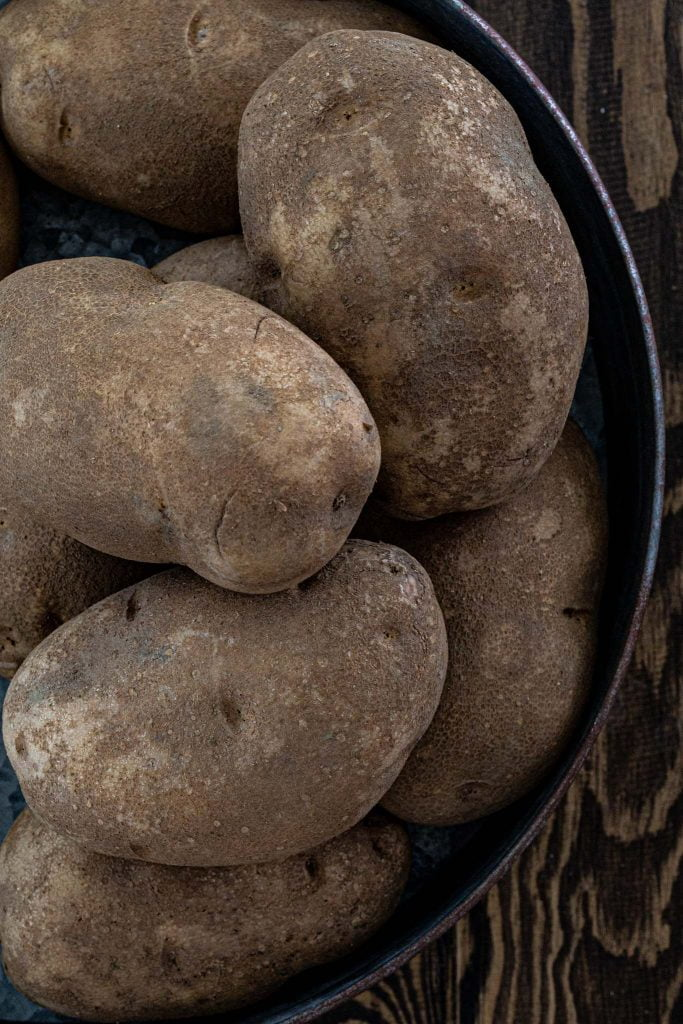 Russet potatoes are the best potatoes for potato salad