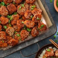 Honey Garlic Glazed Chicken Nuggets