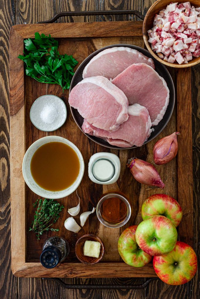 Ingredients for Pork Chops and Apples