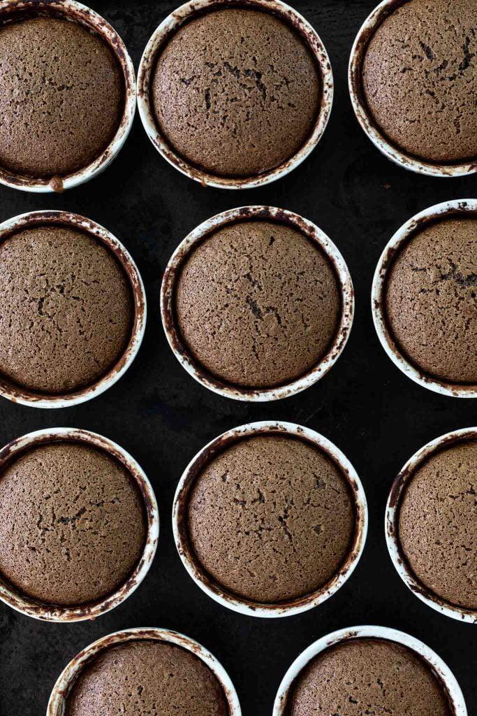 Spiced Chocolate Honey Cakes in ramekins.