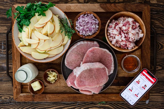 All you'll need to make pork chops and apples