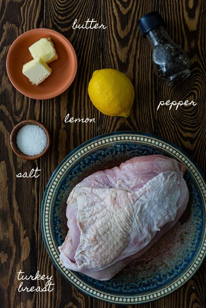 Ingredients to make sous vide turkey breast.