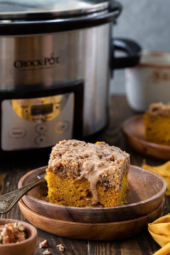 How to make crockpot pumpkin coffee cake