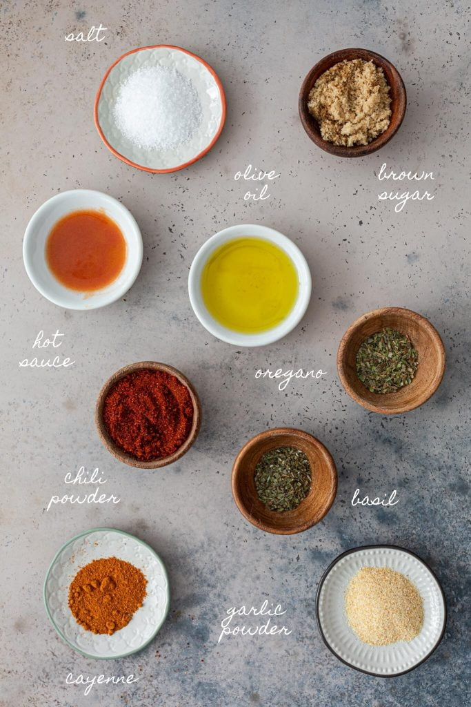 Spices and oils.