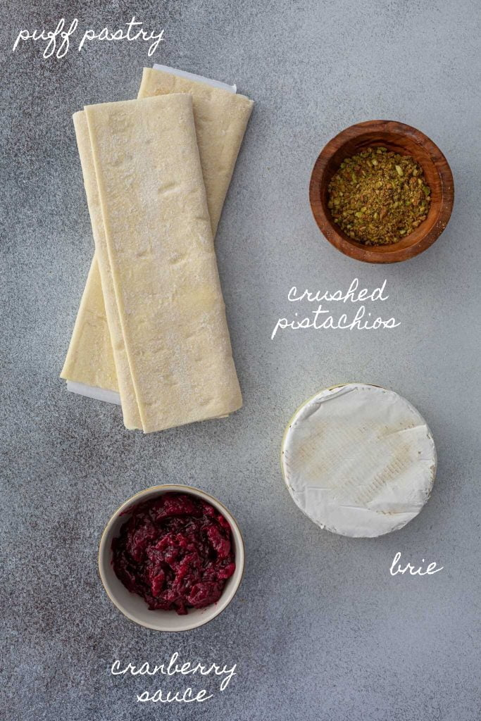 Ingredients to make vol au vent