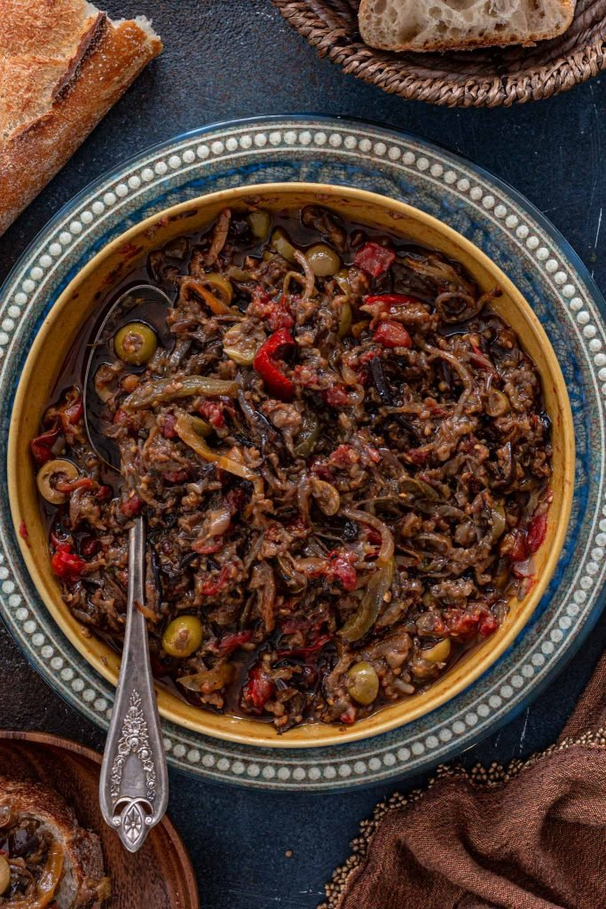 Eggplant caponata with olives