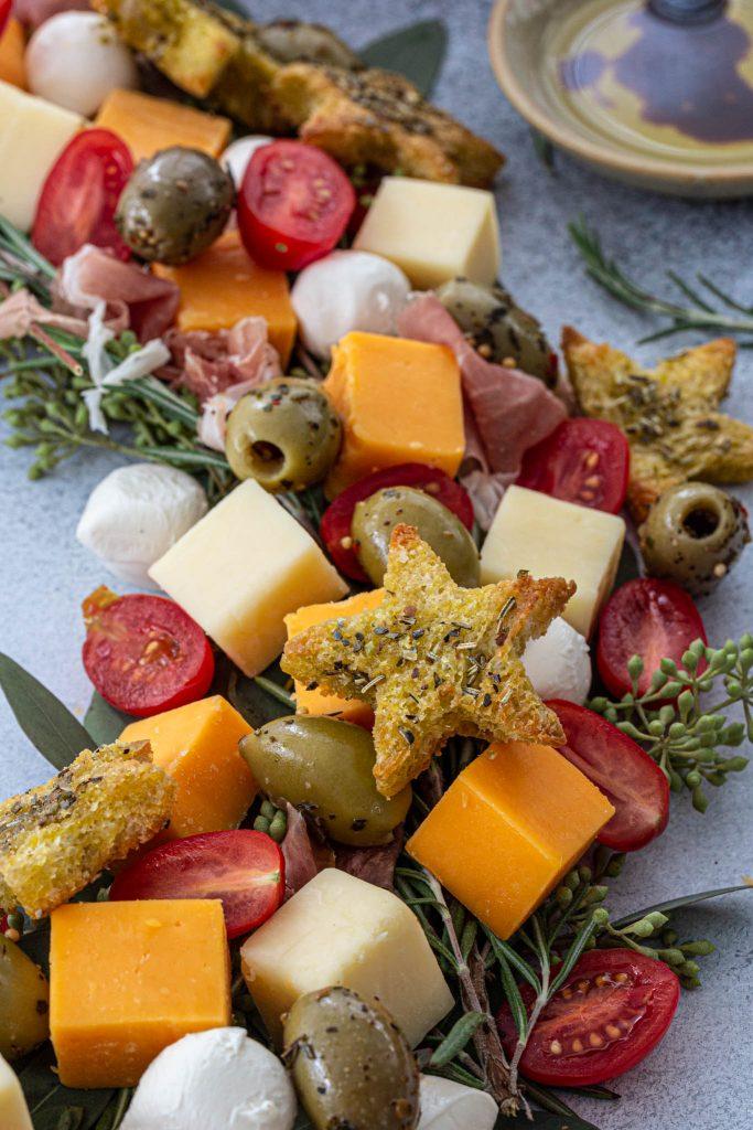 A festive cheese plate.