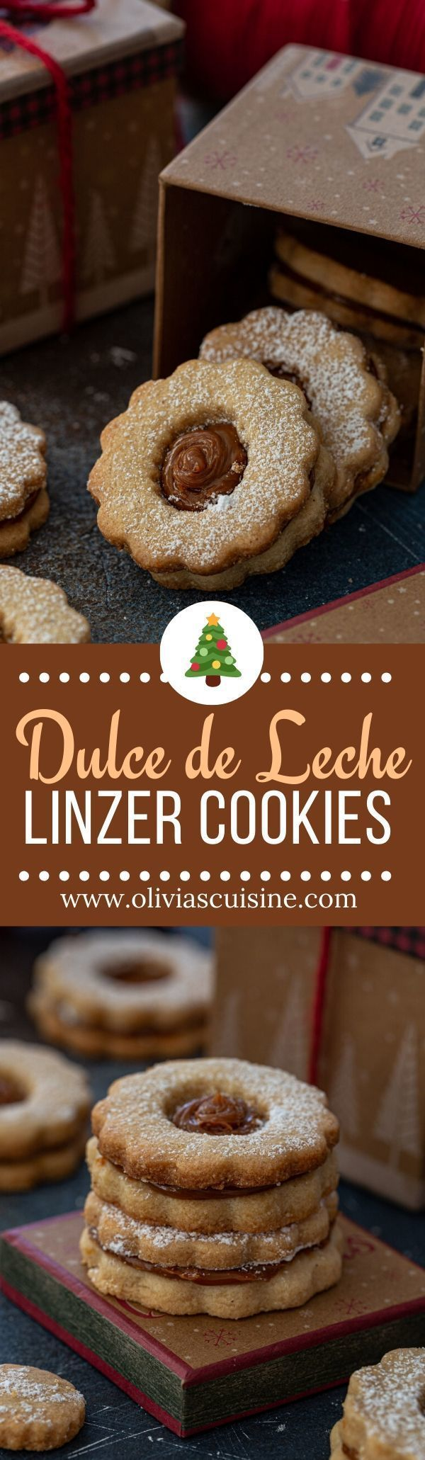 Dulce de Leche Linzer Cookies | www.oliviascuisine.com | Take your holiday cookie baking to the next level with these Dulce de Leche Linzer Cookies! Lightly spiced and filled with indulgence (aka dulce de leche), they are the perfect Christmas treat. (Follow @oliviascuisine for more delicious holiday recipes!) #linzercookies #linzer #cookies #dulcedeleche #christmas #baking #holidays