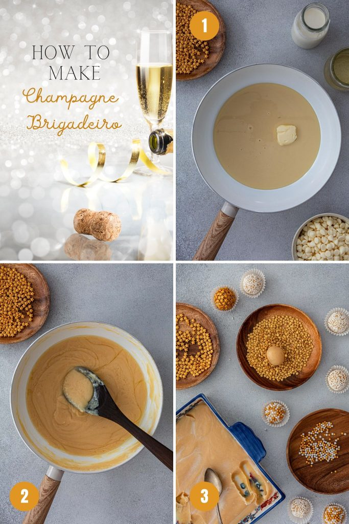 How to make champagne brigadeiro.