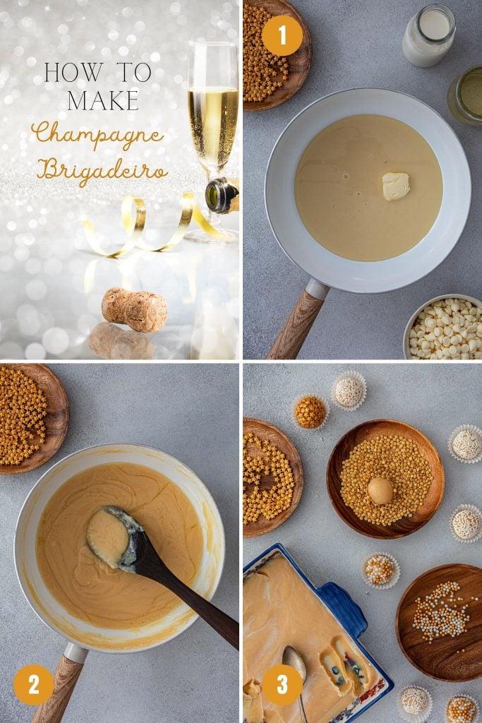How to make champagne brigadeiro.