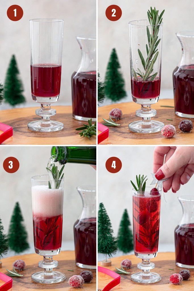 How to make Christmas mimosa