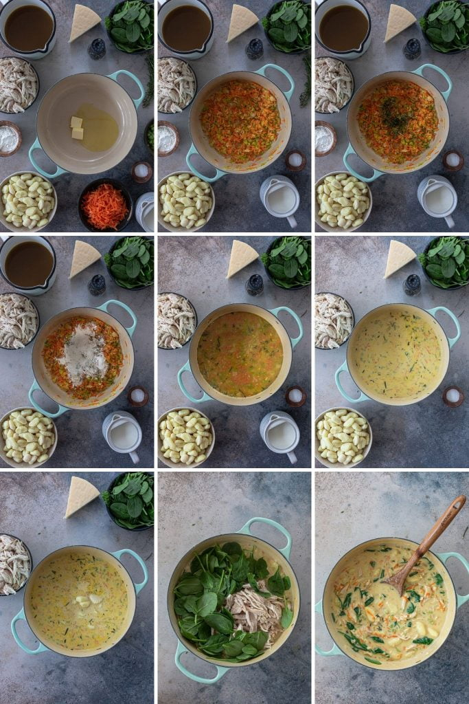 How to make creamy turkey gnocchi soup.
