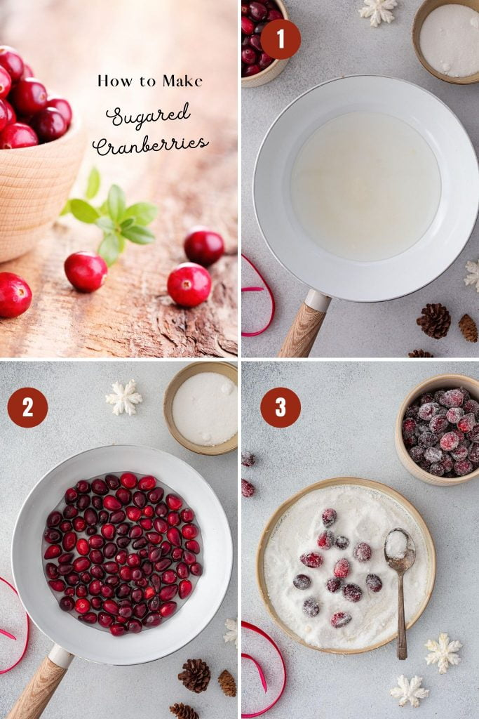 How to make sugared cranberries.