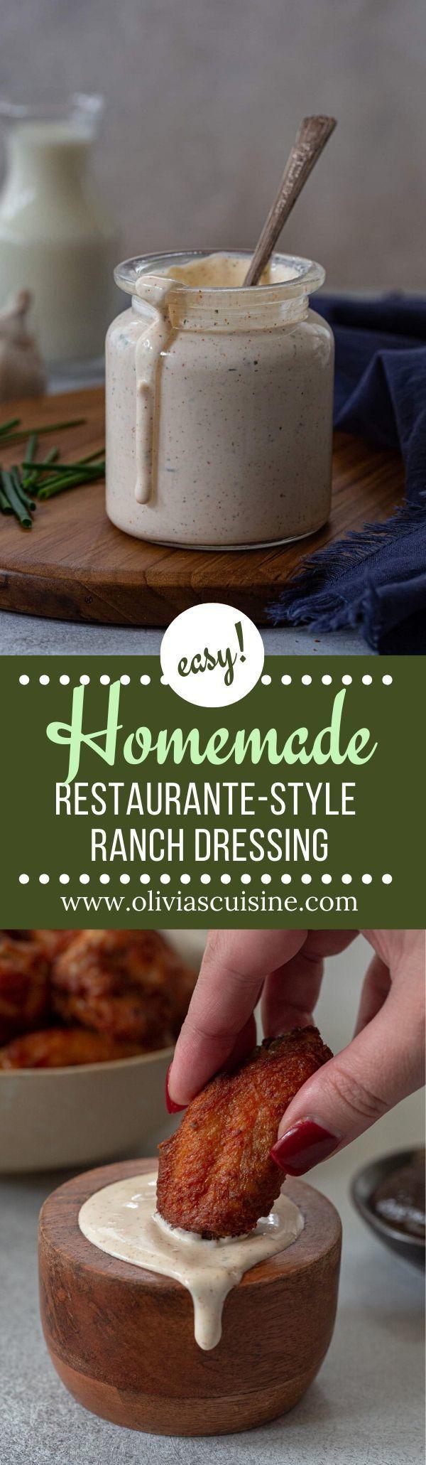 Homemade Restaurant Style Ranch Dressing Olivia S Cuisine