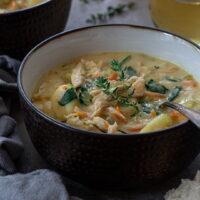 Creamy Leftover Turkey Soup with Gnocchi
