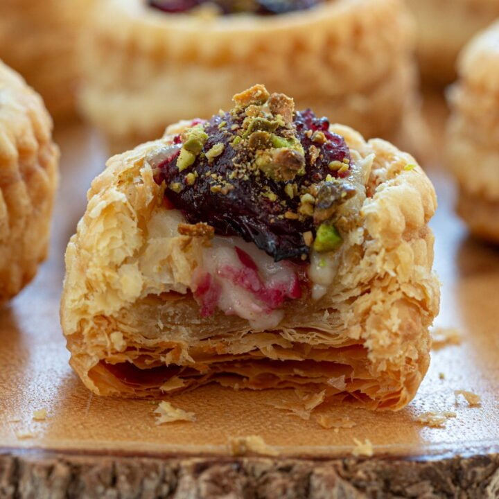 Brie and Cranberry Vol au Vent