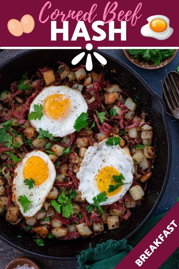 Corned Beef Hash | www.oliviascuisine.com | This easy Corned Beef Hash recipe is hearty, delicious and a great way to use leftover corned beef. Top with fried eggs and you have the ultimate breakfast of champions! (Recipe and food photography by @oliviascuisine.) #cornedbeef #hash #breakfast #hashbrowns #potatoes #eggs #brunch