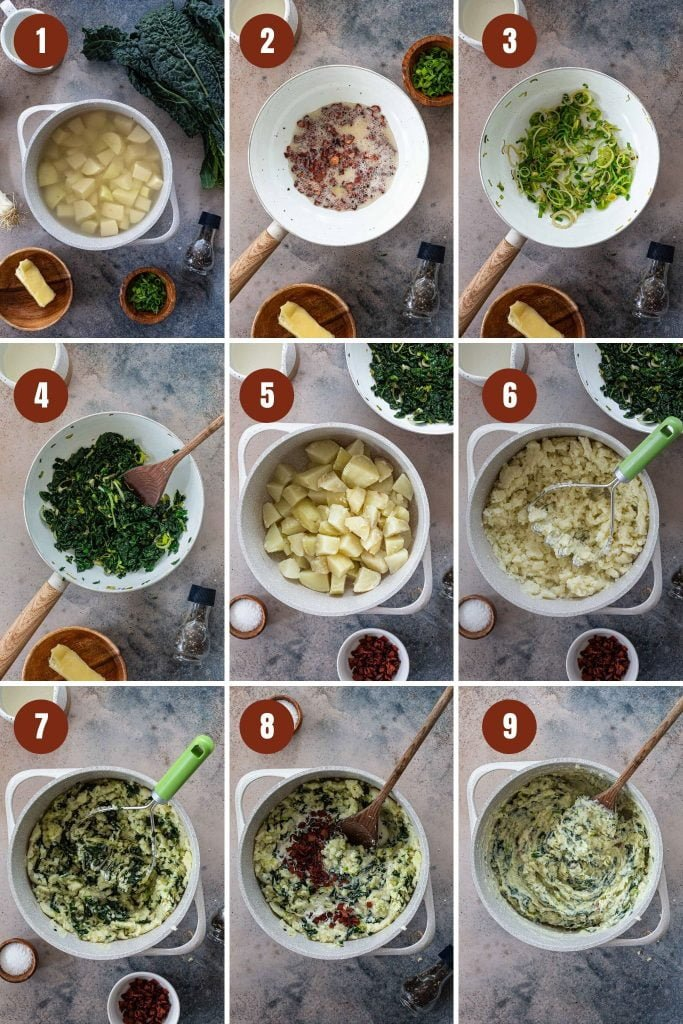 How to make colcannon recipe.
