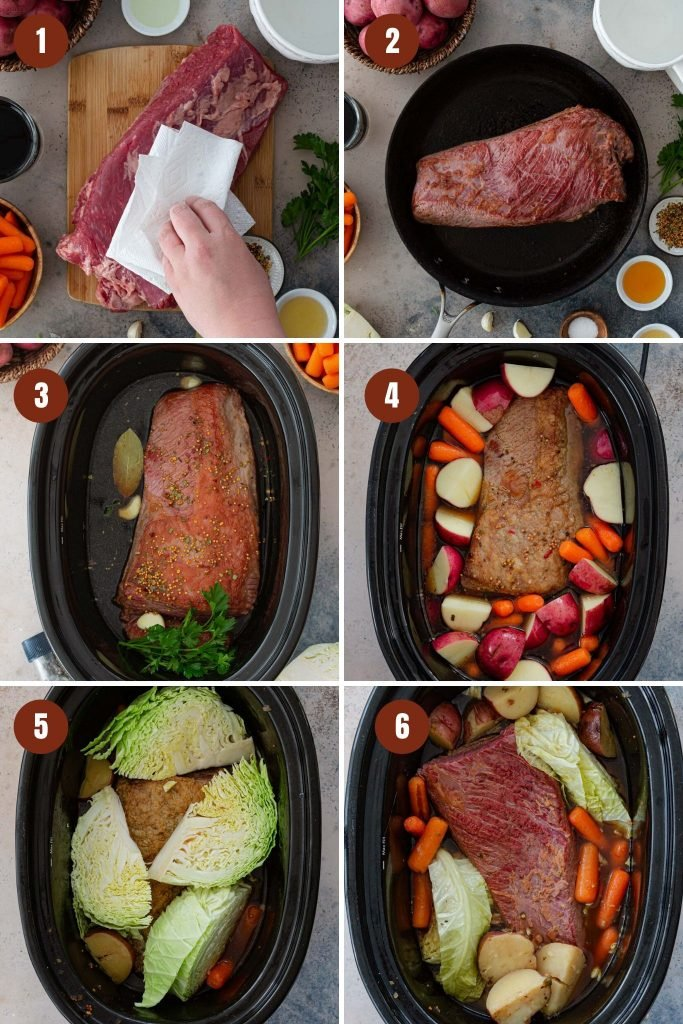 How to make slow cooker corned beef.