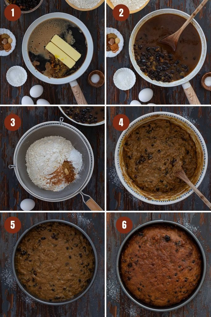 Step by step instructions for porter cake.