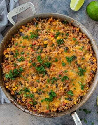 One Pan Mexican Beef and Rice Casserole