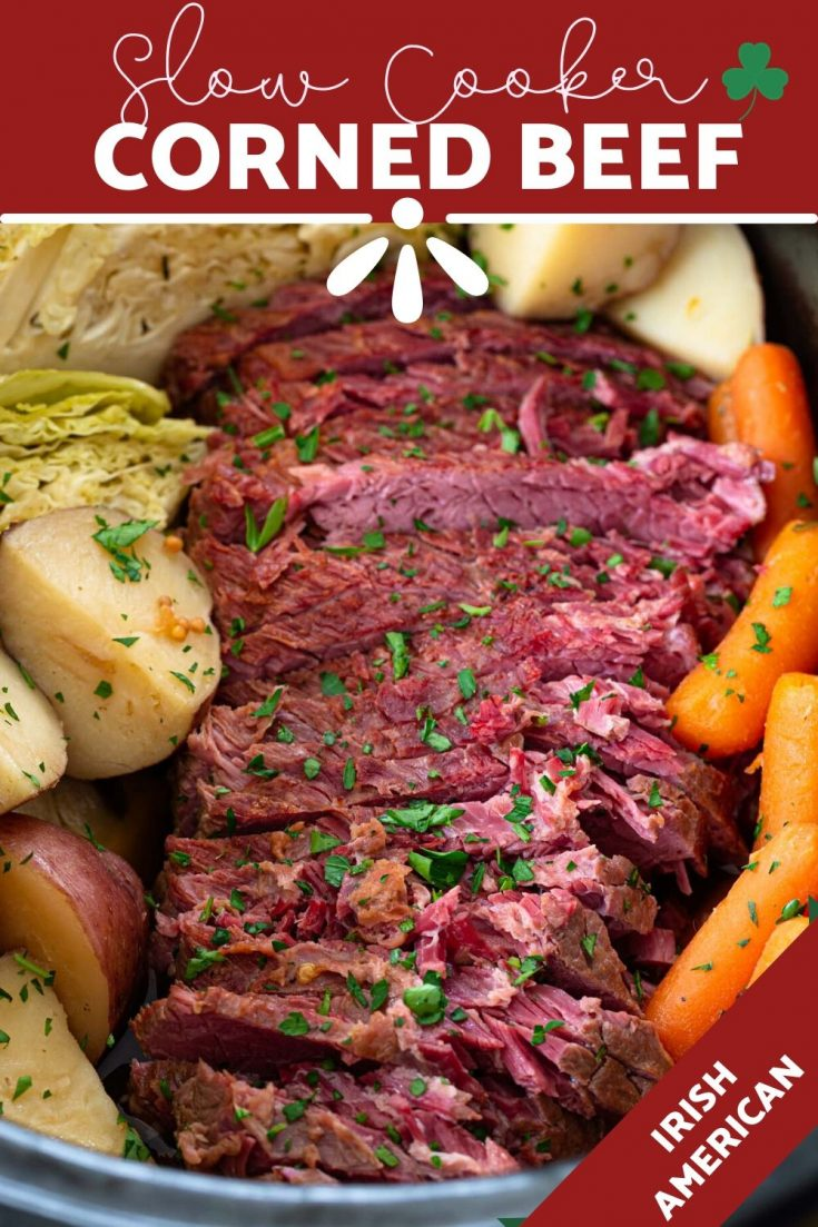 Slow Cooker Corned Beef and Cabbage | www.oliviascuisine.com | Slow Cooker Corned Beef is deliciously tender and so flavorful. And while it's a staple of St. Patrick's Day celebrations, it can - and should - be enjoyed year round! (Recipe and food photography by @oliviascuisine.) #cornedbeef #stpatricksday #cabbage #slowcooker #crockpot