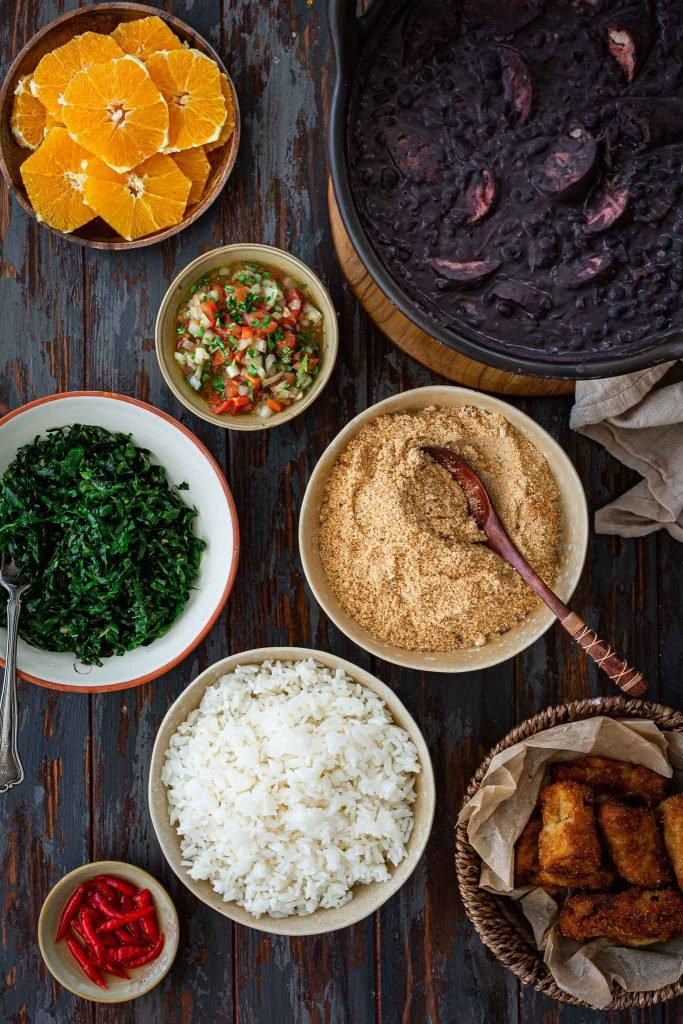 Sides that go with feijoada.