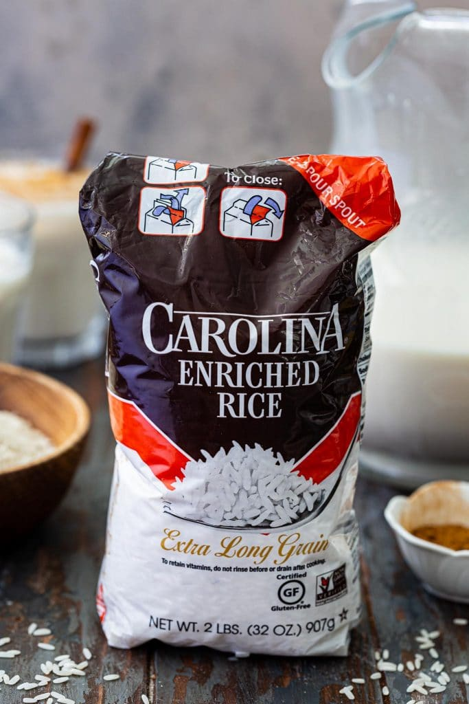A pack of Carolina Rice.