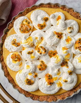 Passion Fruit Cream Pie