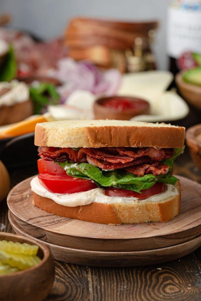 A BLT sandwich.