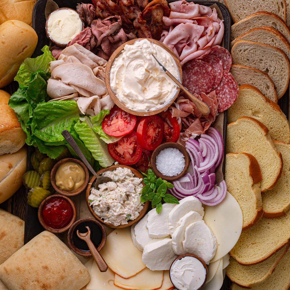Build Your Own Sandwich Platter Olivia S Cuisine